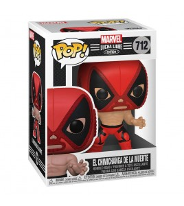 Marvel Luchadores Pop 712 El Chimichanga de La Muerte Deadpool 9 cm
