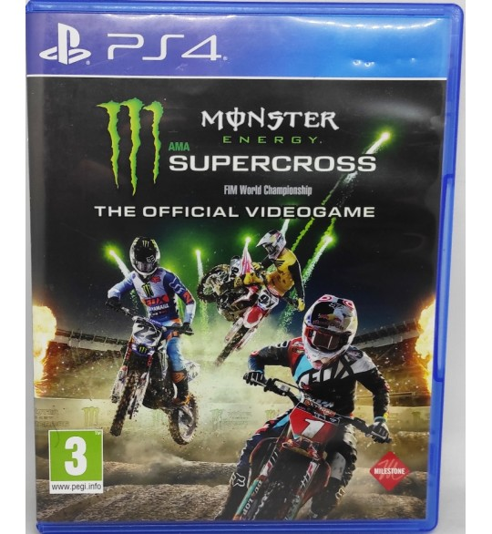 Monster Energy Supercross Jeu Playstation 4 PS4 sans Notice  Games and Toys