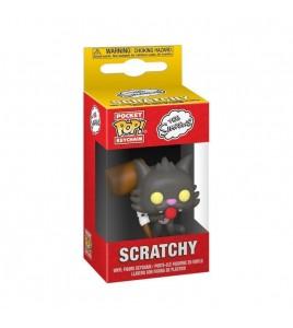 Les Simpsons porte-clés Pocket POP! Scratchy 4 cm