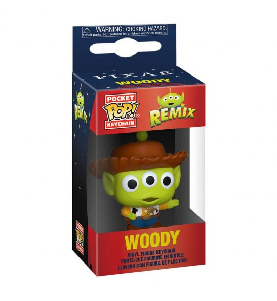 Aliens Remix porte-clés Disney Pocket POP! Woody 4 cm