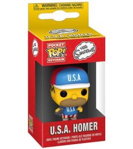 Les Simpsons porte-clés Pocket POP! USA Homer 4 cm