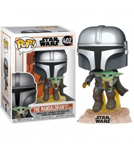 Star Wars Pop 402 The Mandalorian With The Child 9 cm