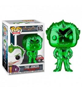 Batman Arkham Asylum Pop 53 The Joker Chrome Green Edition Limitée 9 cm