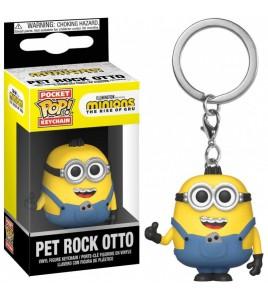 Les Minions 2  porte-clés Pocket POP! Pet Rock Otto 4 cm