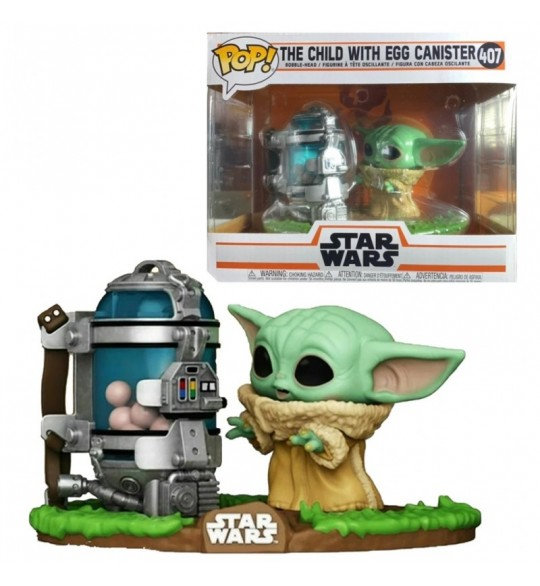 Star Wars The Mandalorian Figurine  Pop 407 The Child With Egg Canister 9 cm