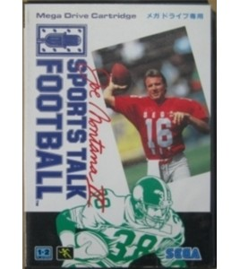 Joe Montana II Sports Talk Football sur Mégadrive Japonaise