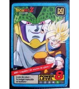 CARTE CARD FR  DRAGON BALL Z  N 609 POWER LEVEL 8