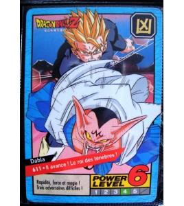 CARTE CARD FR DRAGON BALL Z  N 611 POWER LEVEL 6