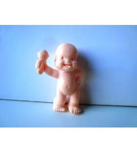 Les Babies  Figurine baby -  Eugénie la chipie - rose peau