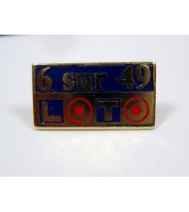 Pins PIN'S LOTO 6 sur 49