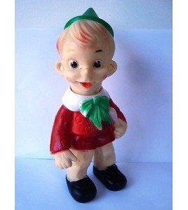 ANCIENNE FIGURINE POUET EN VINYL - PINNOCHIO MADE IN ITALY