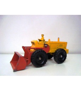 MATCHBOX 43 Aveling BAftFORD tractor shovel, chromgelbrouge vif, MATCHBOX series