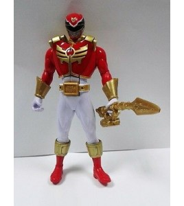 Power Rangers Megaforce rouge RANGER avec carte (Super Megaforce poitrine Pop ou