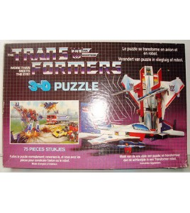 Vintage rare transformers starscream Puzzle 3D Optimus Prime complète 1984 1985