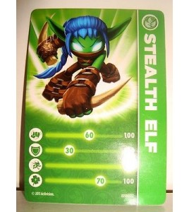 CARTE CARD FIGURINE SKYLANDERS - STEALTH ELF