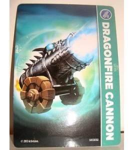 CARTE CARD FIGURINE SKYLANDERS - DRAGONFIRE CANNON