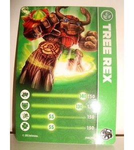 CARTE CARD FIGURINE SKYLANDERS - TREE REX