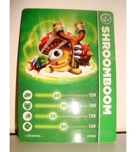 CARTE CARD FIGURINE SKYLANDERS - SHROOMBOOM