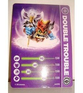 CARTE CARD FIGURINE SKYLANDERS - DOUBLE TROUBLE N°2