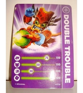 CARTE CARD FIGURINE SKYLANDERS - DOUBLE TROUBLE