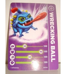 CARTE CARD FIGURINE SKYLANDERS - WRECKING BALL