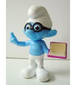 figurine plastique les schtroumpfs smurf peyo schrtoumpf a lunettes