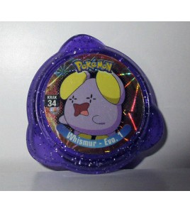 pogs pokemon - krak 34 whismur - evo. 1 (4x4cm)