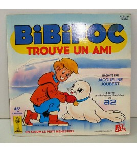 Livre-Disque vinyle 45T BIBIFOC trouve un ami 1985