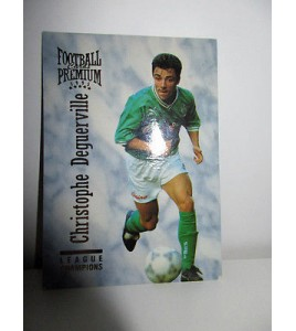 football Carte cards premium panini 1995 n°29 christophe deguerville saint etie
