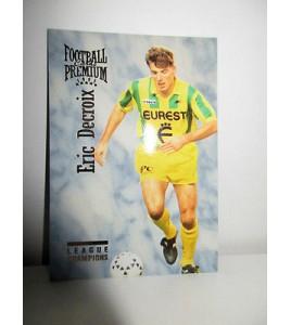 football Carte cards premium panini 1995 n°28 eric decroix fc nantes