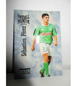 football Carte cards premium panini 1995 n°41 sebastien perez saint etienne