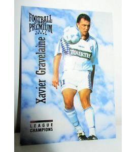 football Carte cards premium panini 1995 n°98 xavier gravelaine strasbourg