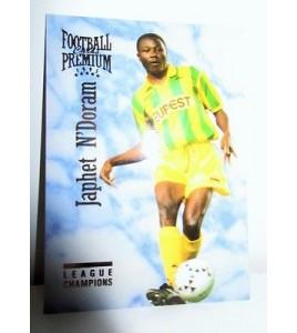 football Carte cards premium panini 1995 n°107 japhet n'doram fc nantes