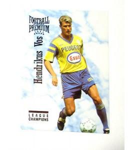football Carte cards premium panini 1995 n°115 hendricks vos sochaux