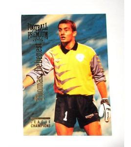 football Carte cards premium panini 1995 n°5 thomas debenest niort