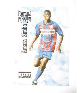 football Carte cards premium panini 1995 n°111 amara simba caen