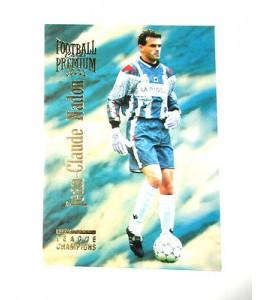 football Carte cards premium panini 1995 n°13 jean claude nadon