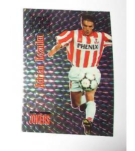 football Carte cards premium panini 1995 joker n°j11 adrian kozniku cannes