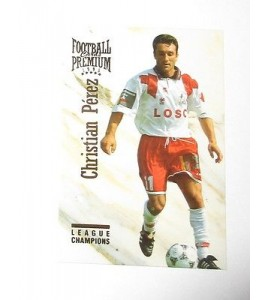 football Carte cards premium panini 1995 n°123 christian perez lille