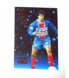 football Carte cards premium panini 1995 n°w31 rai psg