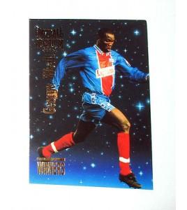 football Carte cards premium panini 1995 n°w43 georges weah psg