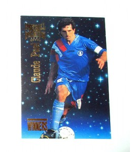 football Carte cards premium panini 1995 n°w30 claude puel as monaco