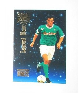 football Carte cards premium panini 1995 n°w 07 laurent blanc saint etienne