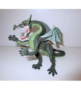 FIGURINE DRAGON PLASTOY CHATEAU CHEVALIER FEERIQUE (14x18cm)